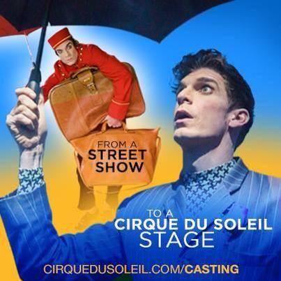 Cirque du Soleil Casting ad